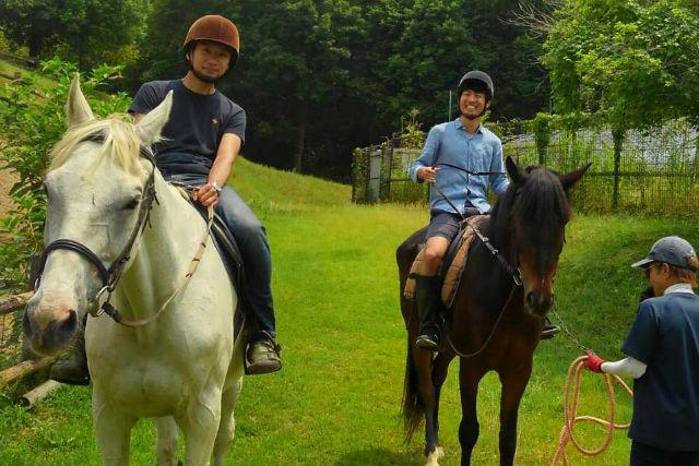 岡山県では「乗馬」も体験出来る